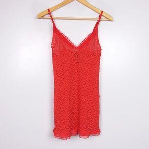 Victoria's Secret Red Lace Lingerie Cami Dress